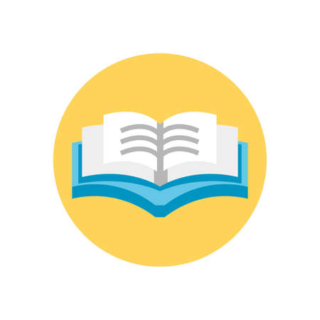 academic book open icon over white background, colorful block style, vector illustration