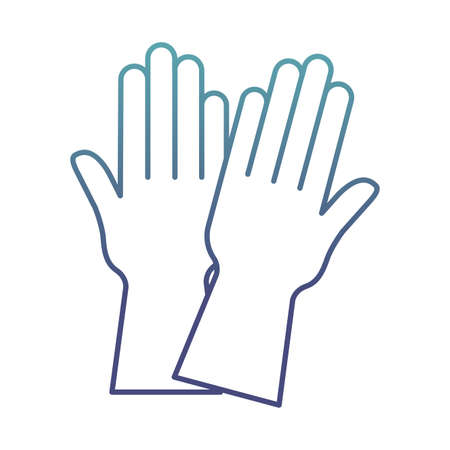 gloves degraded line style icon design, Cleaning service wash home and hygiene theme Vector illustration Vektorové ilustrace