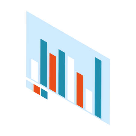 graph bar chart on white background vector illustration design