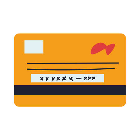card for face-to-face online payments vector illustration desing
