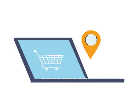 purchase in virtual store with card payment vector illustration desing