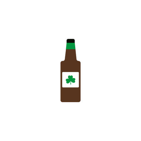 bottle of beer , flat style icon vector illustration design
