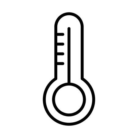thermostat on white background, line style icon vector illustration design