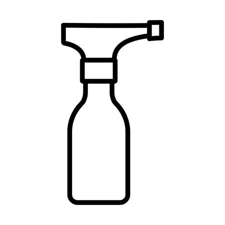 disinfectant bottle with spray , disinfectant solution, disinfectant, line style icon vector illustration design Çizim