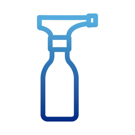 disinfectant bottle with spray , disinfectant solution, disinfectant, degraded line style icon vector illustration design Çizim