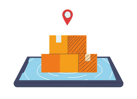 location of merchandise and packages vector illustration desing