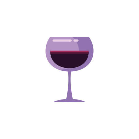 Wine cup design of Winery alcohol drink beverage restaurant celebration and party theme Vector illustration