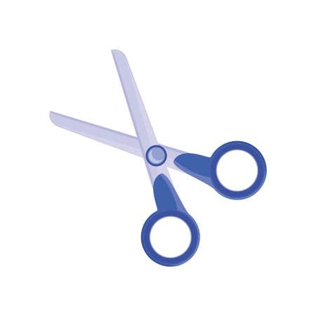 open scissors on white background vector illustration design Illustration