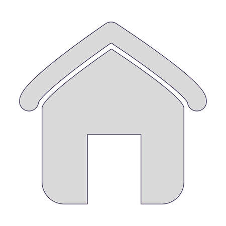 house shape icon over white background, vector illustration