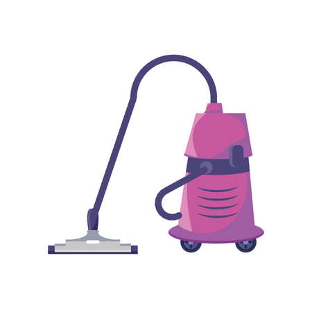 heavy duty vacuum cleaner on white background vector illustration design