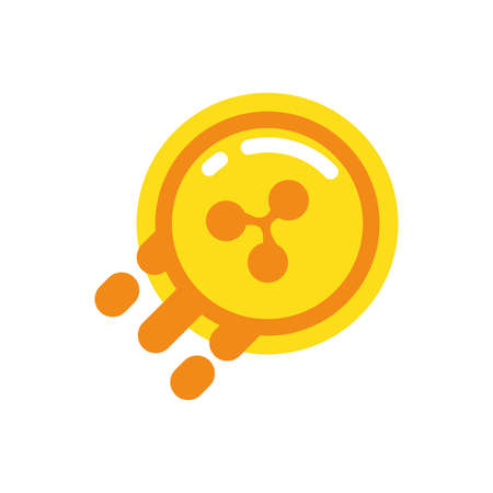 Ripple coin design of Cryptocurrency money currency exchange financial bank web internet market electronic finance and net theme Vector illustration