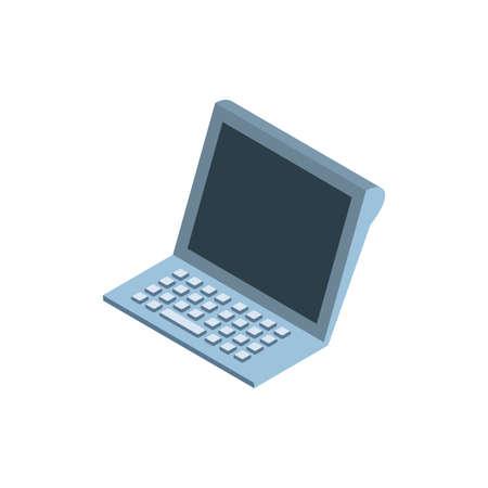 Laptop design, Digital technology communication social media internet web and screen theme Vector illustration 일러스트