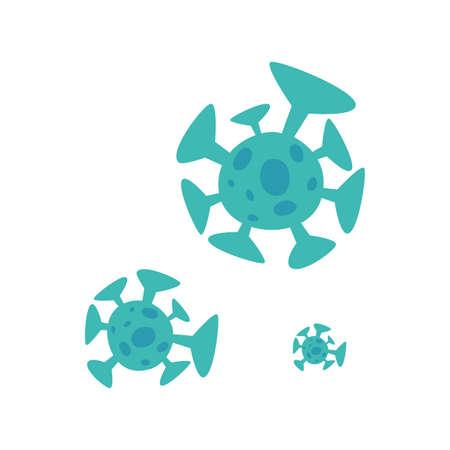 covid 19 coronavirus on white background vector illustration design Illusztráció