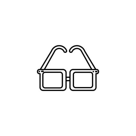 cute glasses, flat style icon vector illustration design Ilustração