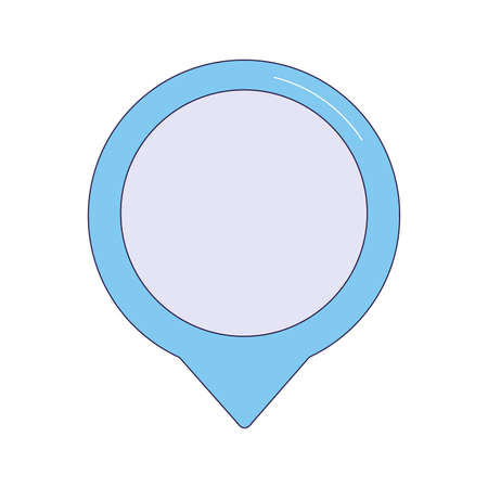 location pin icon over white background, vector illustration