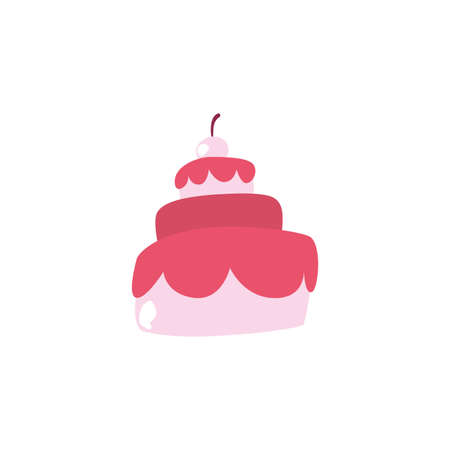Sweet cake design, dessert food delicious sugar snack and tasty theme Vector illustration Vettoriali