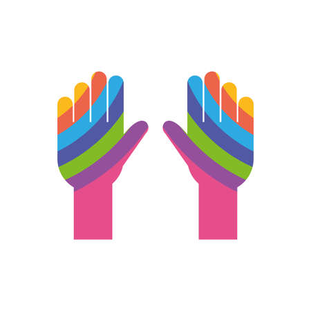 Isolated help hands, flat style icon vector illustration design vector illustration design