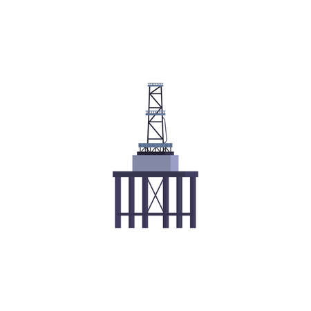 Oil industry tower design, Gas energy fuel technology power industrial production and petroleum theme Vector illustration Ilustrace