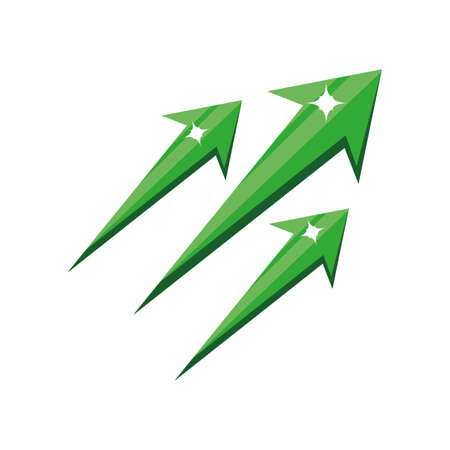 up arrow , oil prices up vector illustration design