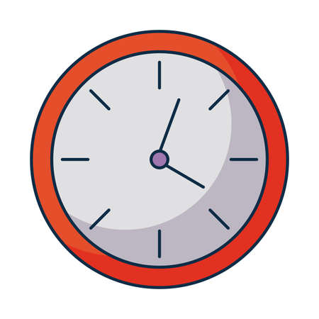 wall clock on white background vector illustration design