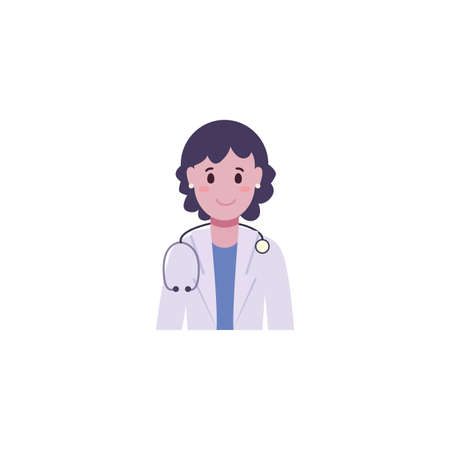 Woman doctor design of Medical care health hospital emergency aid exam clinic and patient theme Vector illustration