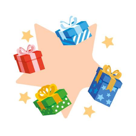 gifts boxes presents icon vector illustration design Иллюстрация