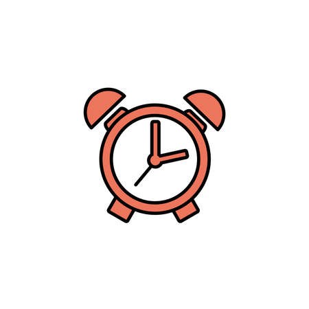 alarm clock, line style icon vector illustration design