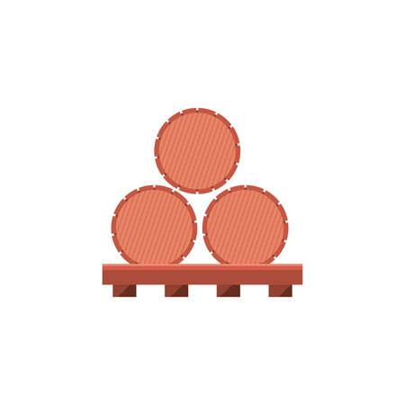 Wine barrels design of Winery alcohol drink beverage restaurant celebration and party theme Vector illustration