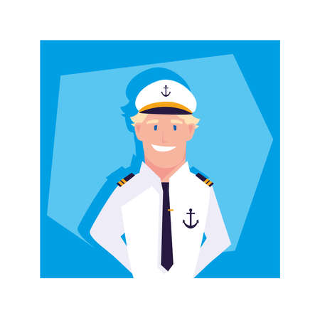 ship driver person design, Worker professional working occupation job corporate employee and service theme Vector illustration