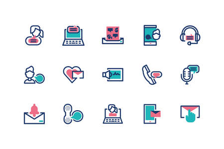 Messages icon set design, email mail letter marketing communication card and document theme Vector illustration