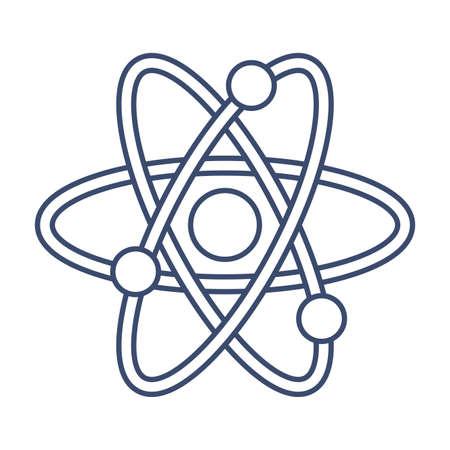 atom symbol , line style icon vector illustration design
