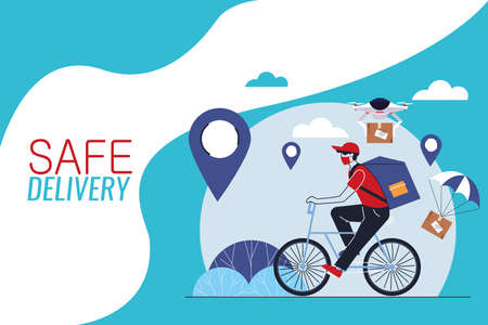 international courier with location delivery vector illustration desing