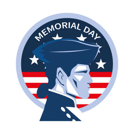 rubber stamp with american soldier vector illustration design