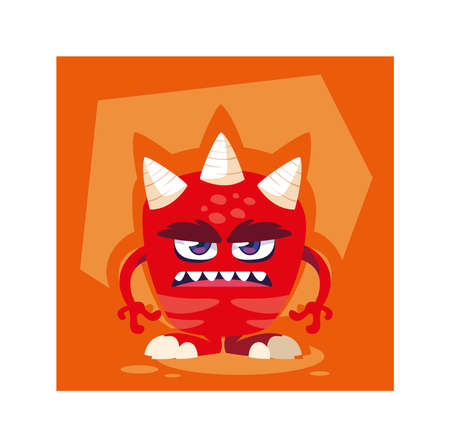 alien monster for halloween, angry monster vector illustration design