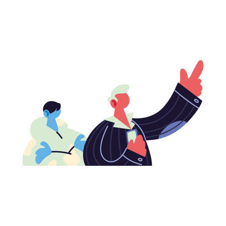 men talking about topics of the day vector illustration design 일러스트