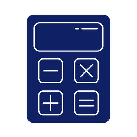 calculator math finance, silhouette style iconvector illustration design