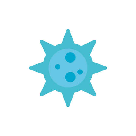 bacteria germ over white background, flat style icon, vector illustration 向量圖像