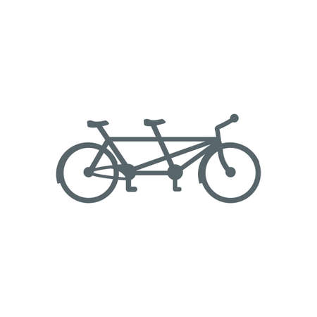 bike for two design, Vehicle bicycle cycle healthy lifestyle sport and leisure theme Vector illustration Stock Illustratie