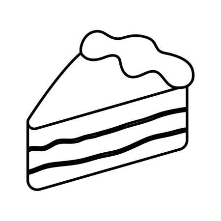 Sweet cake design, dessert food delicious sugar snack and tasty theme Vector illustration Illusztráció