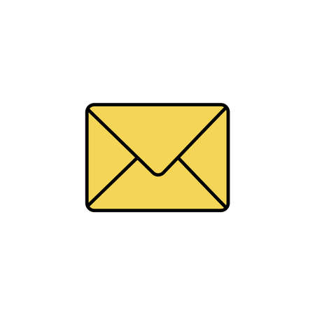 envelope closed, line style icon vector illustration design Foto de archivo - 150311088