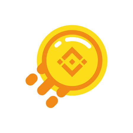 Binance coin design of Cryptocurrency money currency exchange financial bank web internet market electronic finance and net theme Vector illustration