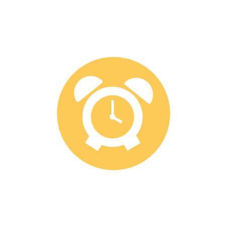 alarm clock, block and flat style icon vector illustration design