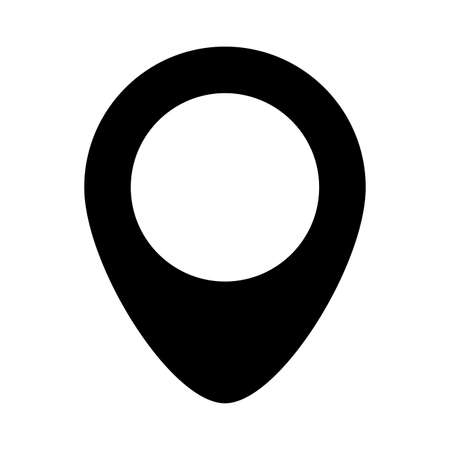 Gps mark silhouette style icon design, Map travel navigation route road location technology search street and direction theme Vector illustration