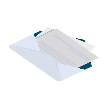 envelope mail isolated icon vector illustration design Foto de archivo - 150369962