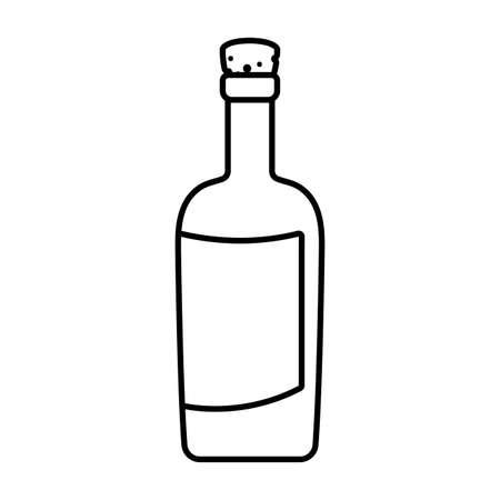 Wine bottle design, Winery alcohol drink beverage restaurant and celebration theme Vector illustration Ilustração