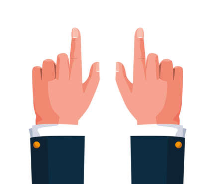 hands businessman isolated icon vector illustration design