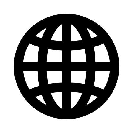 Global sphere silhouette style icon design, Communication internet connectivity web technology social media network and virtual theme Vector illustration
