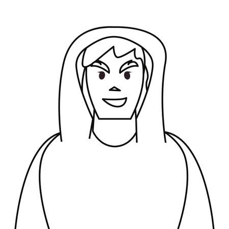 hacker man character thief vector illustration design outline