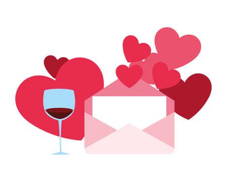 set of icons valentines day vector illustration design