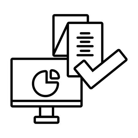 computer screen with digital technology in white background vector illustration design Stock Illustratie